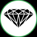 Алмаз презентабельный вид
