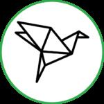 Оригами держит форму